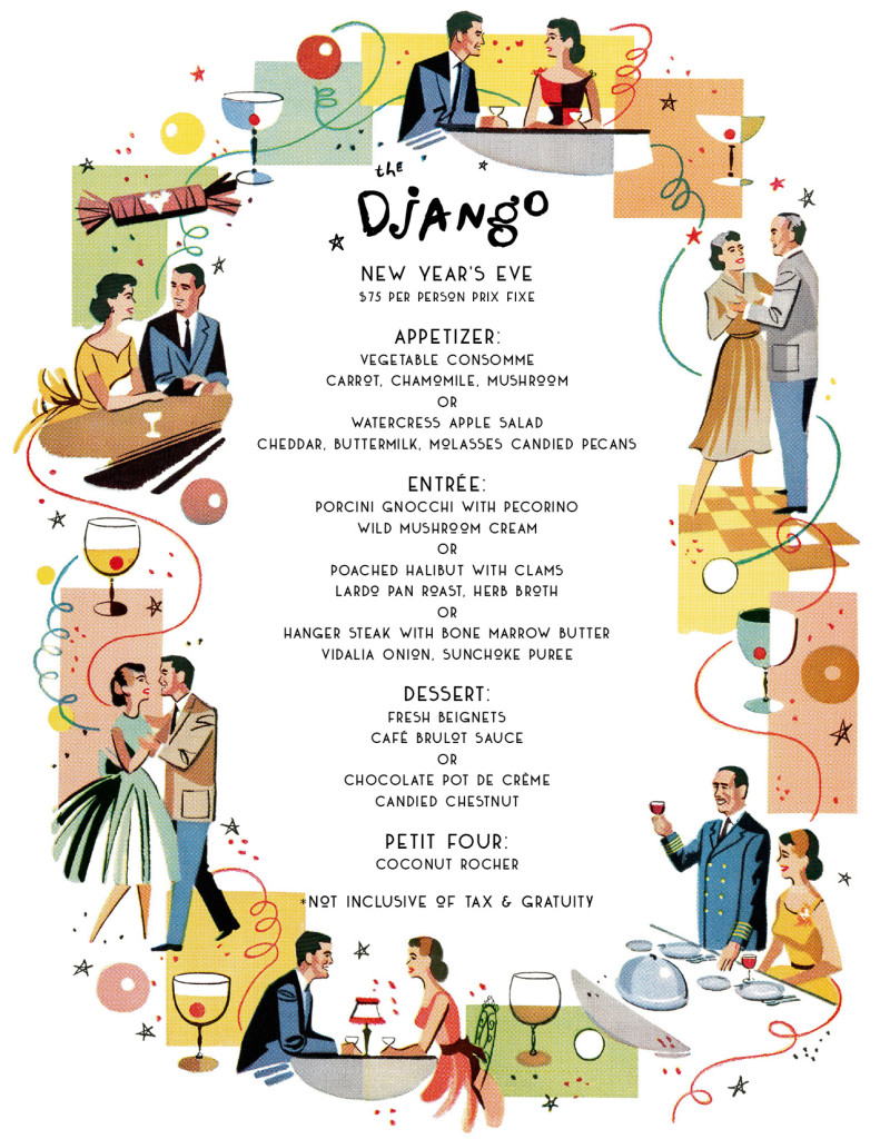 The Django Menu NYE 2018